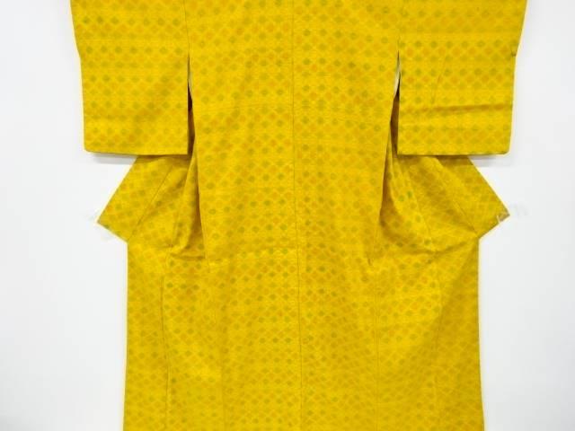 抽象花模様織り出し手織り真綿小千谷紬着物【リサイクル】【中古】【着】 宗sou