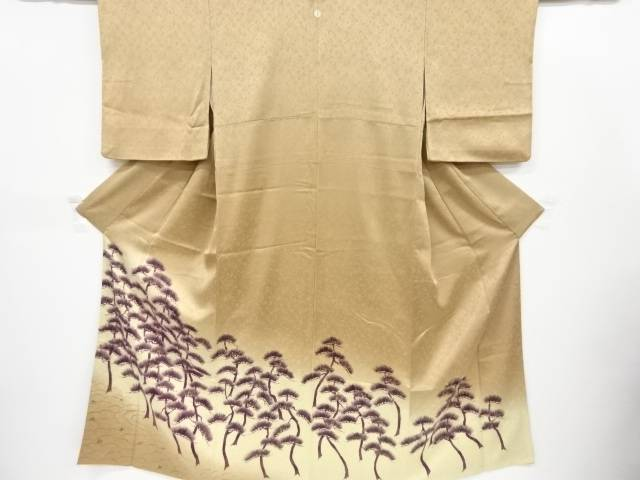 金彩手描き松林模様一つ紋付け下げ訪問着(重ね衿付き)【リサイクル】【中古】【着】 宗sou
