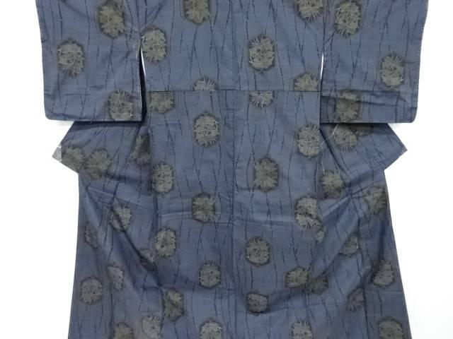 未使用品 亀甲に竹笹模様織出本場泥大島紬着物(5マルキ)【リサイクル】【着】 宗sou