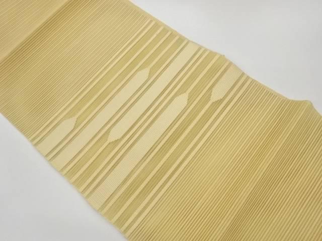 期間限定 茶道具 茶道 着物 絽綴れ変わり横段模様織出し名古屋帯 宗sou 着 おすすめ 中古 リサイクル