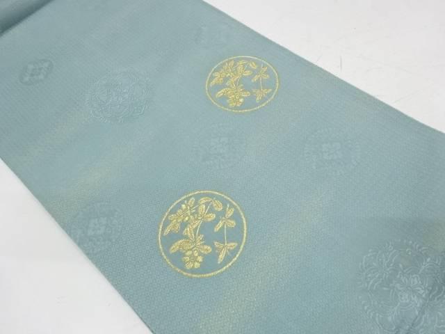 霞に花模様織出し袋帯【リサイクル】【中古】【着】 宗sou