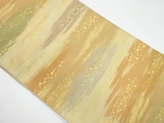 霞に色紙散らし模様織出し袋帯【リサイクル】【中古】【着】 宗sou