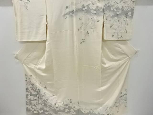 枝垂れ桜模様織り出し訪問着【リサイクル】【中古】【着】 寿光織 宗sou
