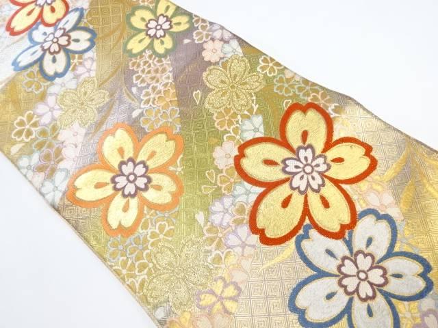 桜模様刺繍袋帯【リサイクル】【中古】【着】 宗sou