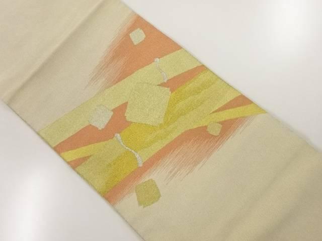 無料 茶道具 茶道 着物 本綴れ竹に破れ色紙模様織出し袋帯 リサイクル 2020A/W新作送料無料 中古 宗sou 着