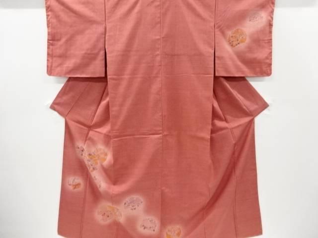 茶道具 安全 茶道 着物 未使用品 花古典柄手織り節紬訪問着 着 結婚祝い 宗sou 仕立て上がり