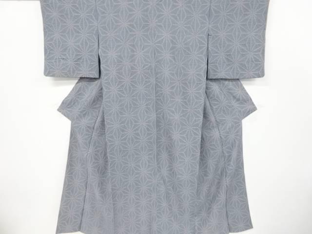 茶道具 茶道 着物 絞り麻の葉模様手織り紬着物 着 リサイクル お買い得 宗sou 中古 新作製品 世界最高品質人気