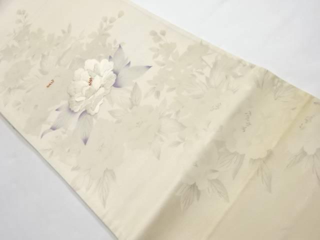 宗sou 牡丹模様刺繍袋帯【リサイクル】【中古】【着】