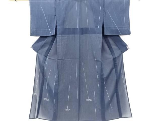 茶道具 茶道 全商品オープニング価格 着物 OUTLET SALE 紗紬雨縞に波紋模様訪問着 中古 リサイクル 宗sou 着