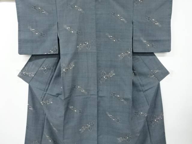 在庫処分 茶道具 茶道 着物 大根模様織り出し手織り節紬着物 着 リサイクル 宗sou 中古 送料0円