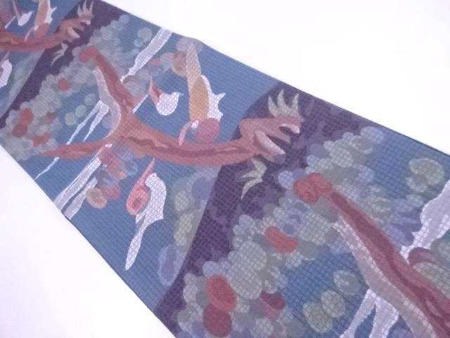 袋帯 宗sou 樹木に鳥文【リサイクル】【中古】【着】