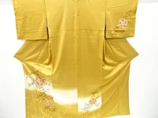 世界の人気ブランド 茶道具 茶道 着物 華紋模様訪問着 宗sou リサイクル 中古 着 春の新作