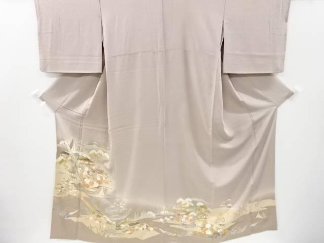 <セール&特集> 茶道具 茶道 着物 茶屋辻模様刺繍一つ紋色留袖 着 マート リサイクル 宗sou 中古