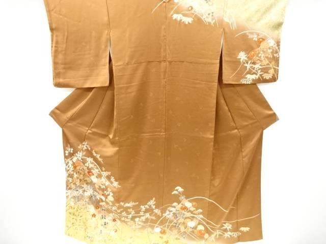 茶道具 茶道 着物 金彩秋草模様刺繍訪問着 日本最大級の品揃え 着 中古 リサイクル 宗sou 期間限定特別価格