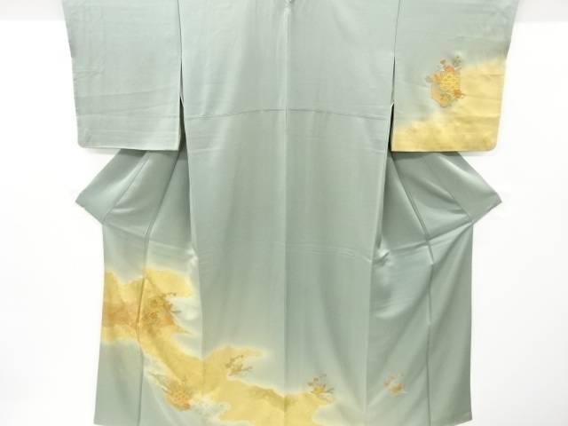 茶道具 茶道 着物 高級な 汕頭蘇州刺繍 亀甲に唐花鳥模様一つ紋訪問着 リサイクル 中古 着 宗sou 人気ショップが最安値挑戦