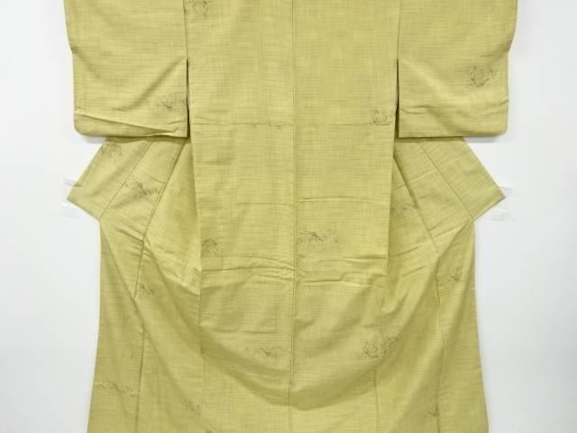 茶道具 茶道 直営限定アウトレット 着物 2020新作 家屋模様織り出し手織り紬着物 中古 アンティーク 着 宗sou