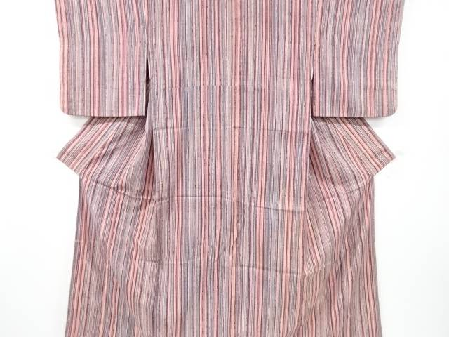 茶道具 茶道 着物 縞模様手織り真綿紬着物 リサイクル 販売期間 限定のお得なタイムセール 中古 宗sou 着 お気に入