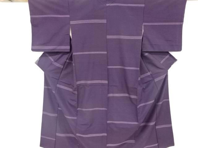 茶道具 茶道 着物 横段織り出し手織り紬着物 着 宗sou 男女兼用 リサイクル 販売 中古