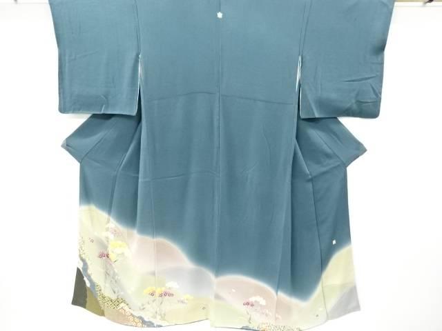 茶道具 茶道 着物 作家物 草花模様三つ紋色留袖 着 中古 リサイクル 宗sou 国内在庫 セットアップ