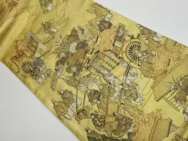 茶道具 茶道 着物 人物に御所車 風景模様織出し袋帯 宗sou リサイクル 着 デポー 中古 国内正規品