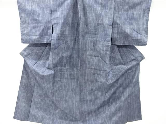 茶道具 茶道 着物 壷垂れ模様織り出し十日町紬単衣着物 着 ついに再販開始 中古 アンティーク 宗sou 爆売り