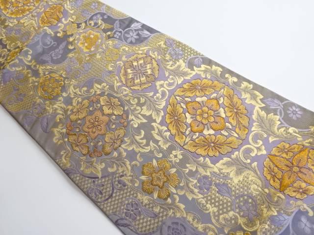 茶道具 出色 茶道 着物 宝草彩華文模様織り出し袋帯 着 中古 リサイクル 宗sou 品質保証