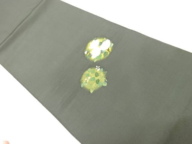茶道具 茶道 着物 本物 椿模様織出し袋帯 リサイクル 着 宗sou 中古 品質検査済
