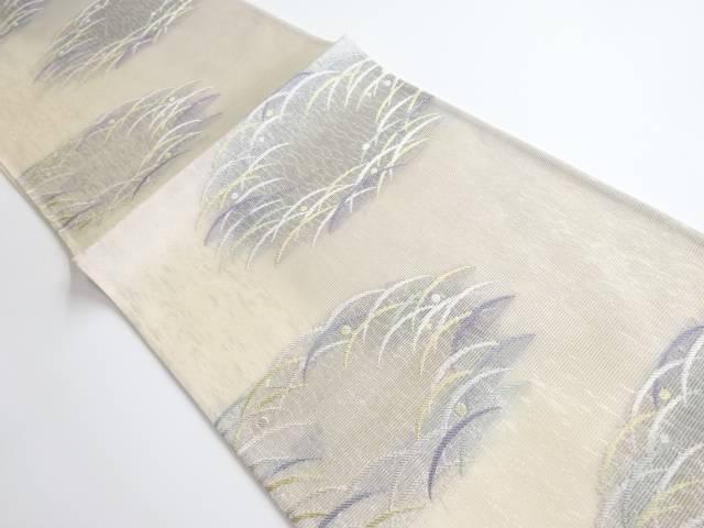 茶道具 最新号掲載アイテム 茶道 着物 絽 露芝草模様織り出し袋帯 着 宗sou リサイクル 中古 人気海外一番