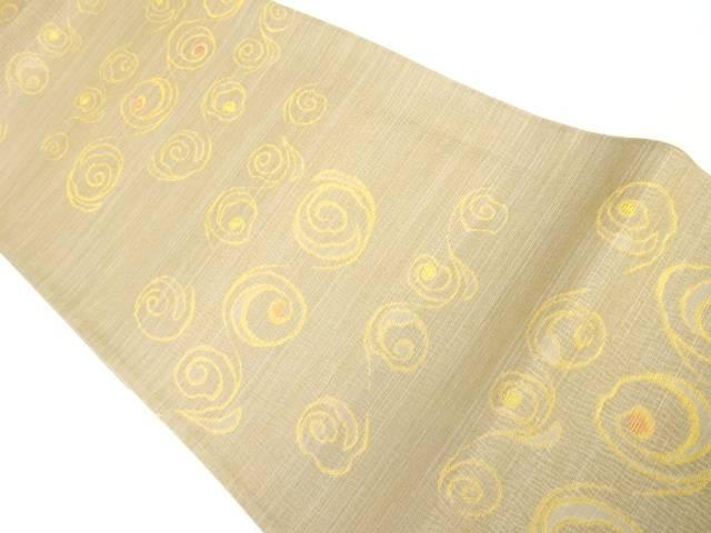 茶道具 茶道 着物 渦巻き模様織り出し袋帯 中古 宗sou 売れ筋ランキング リサイクル 着 世界の人気ブランド