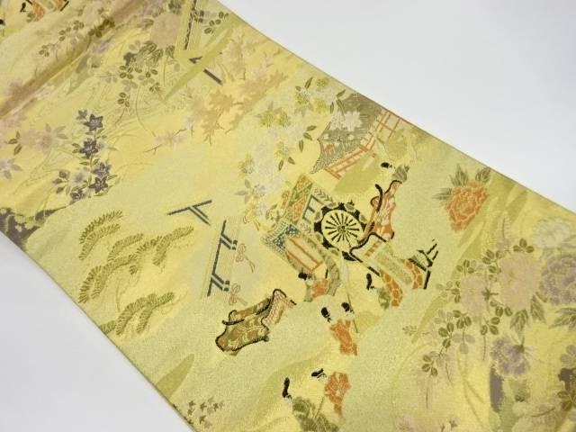 茶道具 茶道 2020 着物 洛中風景模様織出し袋帯 着 宗sou リサイクル 中古 引き出物