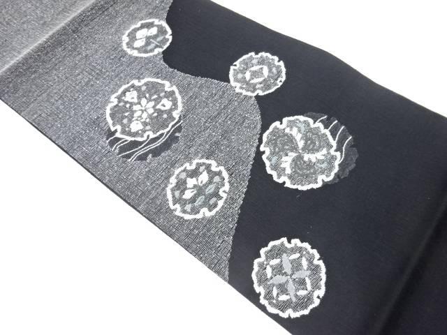 最新号掲載アイテム 茶道具 茶道 着物 未使用品 宗sou 限定モデル リサイクル 着 雪輪に花模様織出し夏用袋帯
