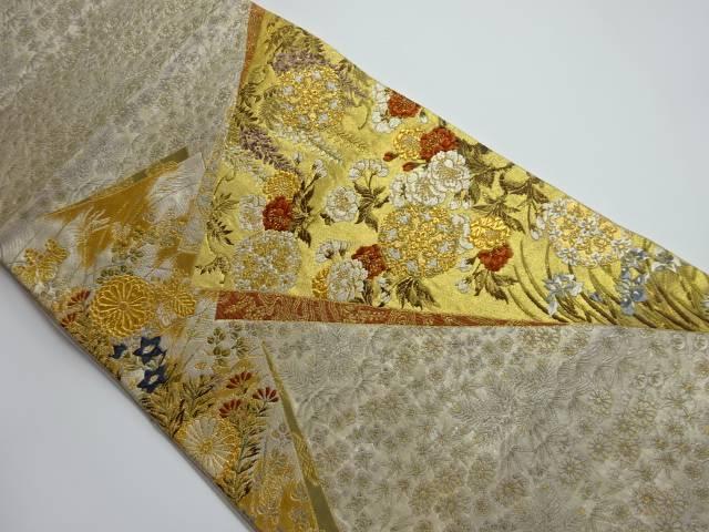 マート 茶道具 茶道 着物 安心と信頼 切り嵌め風花模様織り出し袋帯 中古 宗sou 着 リサイクル