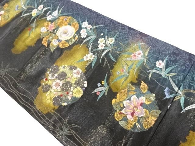 茶道具 茶道 着物 研ぎ出し引箔花手毬織出し袋帯 ◆セール特価品◆ 中古 リサイクル 倉 宗sou 着