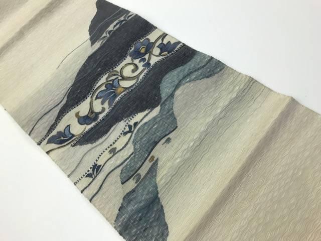 茶道具 茶道 着物 手織りすくい織花唐模様袋帯 中古 着 正規激安 40%OFFの激安セール 宗sou リサイクル