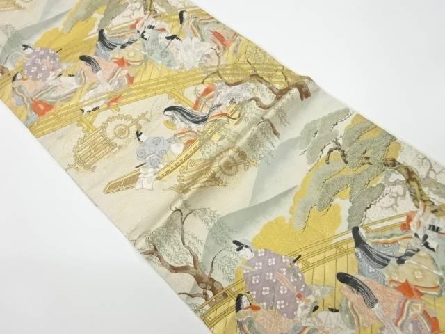 ご予約品 茶道具 付与 茶道 着物 時代風景模様織出し袋帯 着 リサイクル 中古 宗sou