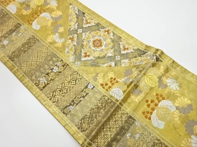 結婚祝い 茶道具 おトク 茶道 着物 花菱に桐模様織出し袋帯 リサイクル 中古 着 宗sou