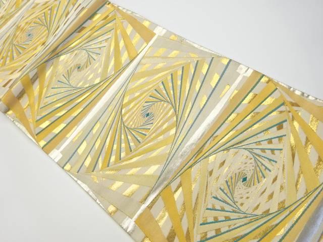 茶道具 茶道 セール特価品 着物 抽象模様織り出し袋帯 着 NEW 宗sou リサイクル 中古