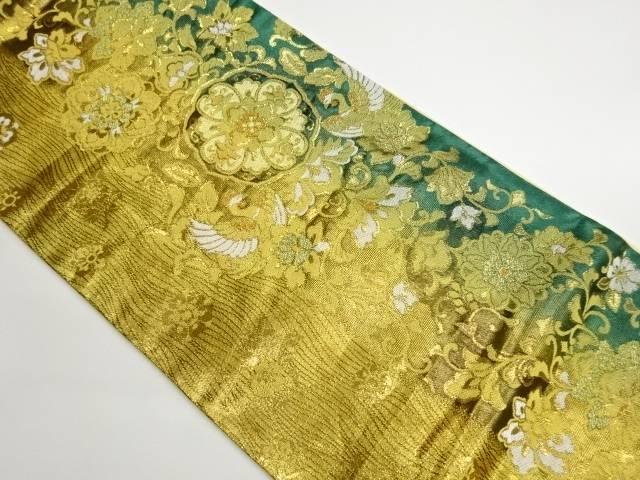 茶道具 茶道 値引き 着物 鳳凰に花唐草模様織出し袋帯 宗sou リサイクル 大特価 中古 着