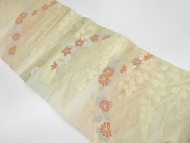 茶道具 茶道 着物 絽秋草模様織出し袋帯 着 買い取り 全国一律送料無料 中古 リサイクル 宗sou