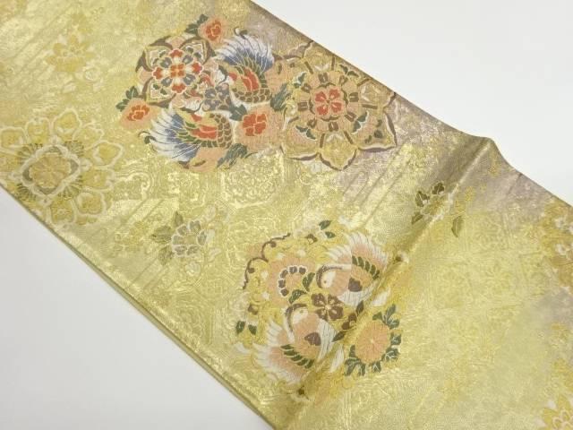 茶道具 茶道 着物 向かい鳥に華紋模様織出し袋帯 中古 宗sou 在庫一掃売り切りセール 毎日続々入荷 リサイクル 着