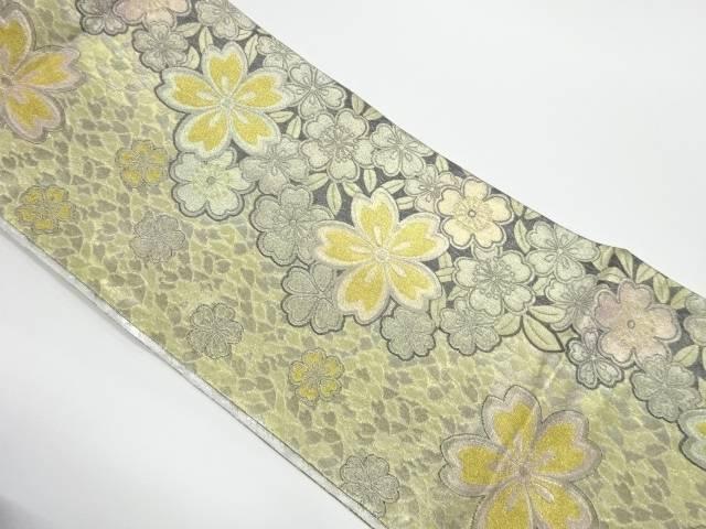 茶道具 茶道 着物 桜模様織出し袋帯 売り出し 宗sou リサイクル 高品質 中古 着