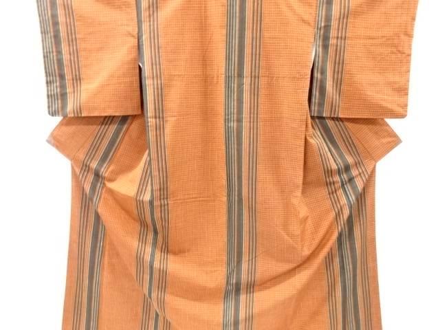 優先配送 茶道具 茶道 着物 格子織り出し手織り真綿紬着物 着 リサイクル 中古 宗sou ブランド買うならブランドオフ