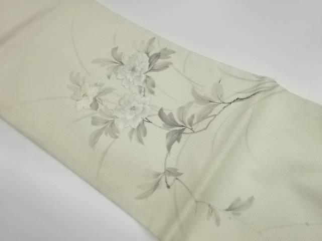 茶道具 茶道 選択 着物 作家物 絽手描き花模様刺繍名古屋帯 宗sou 引出物 リサイクル 着 中古