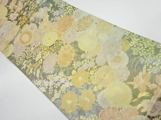 茶道具 茶道 着物 花々模様織出し袋帯 70%OFFアウトレット 高品質 着 中古 リサイクル 宗sou