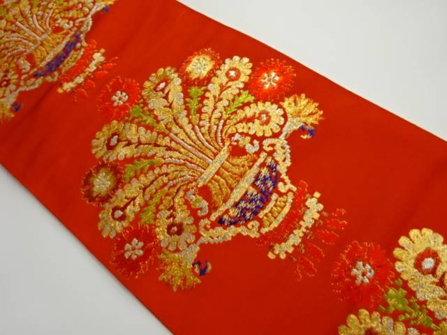茶道具 茶道 着物 伊太利華文 海外輸入 抽象模様刺繍袋帯 宗sou リサイクル 中古 買取 着