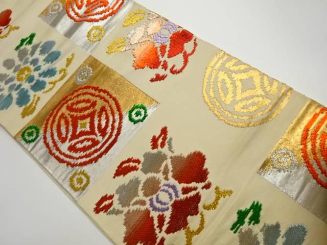 茶道具 茶道 激安価格と即納で通信販売 着物 抽象模様刺繍袋帯 贈答品 リサイクル 宗sou 着 中古