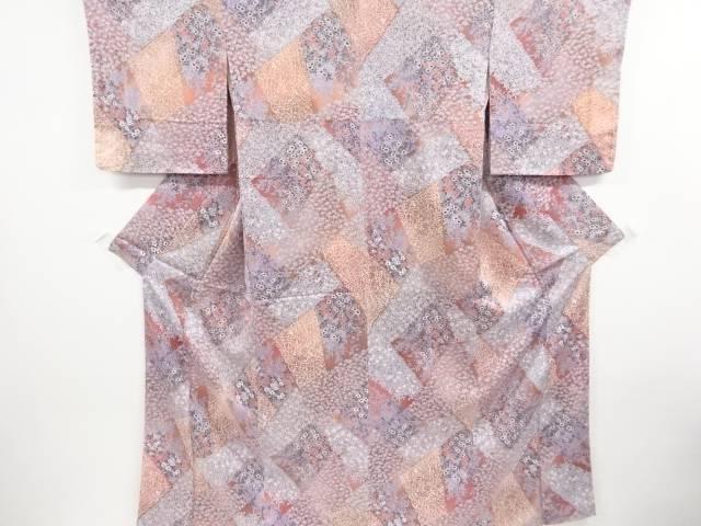 茶道具 茶道 着物 未使用品 宗sou 割引 リサイクル 店 石畳に花模様小紋着物 着
