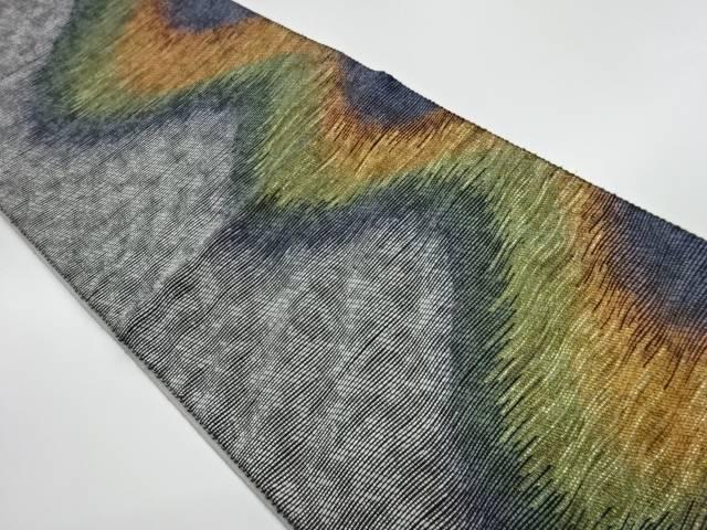 茶道具 茶道 着物 変わり縞模様織出し袋帯 日本最大級の品揃え リサイクル 最安値 中古 宗sou 着
