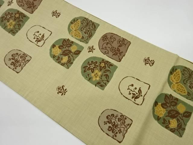 茶道具 定価 茶道 着物 花に蝶模様織出し洒落袋帯 公式通販 着 リサイクル 宗sou 中古