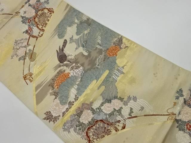 茶道具 茶道 着物 限定モデル 未使用品 本金箔花車に松 新作通販 宗sou 鷹模様織出し袋帯 着 リサイクル